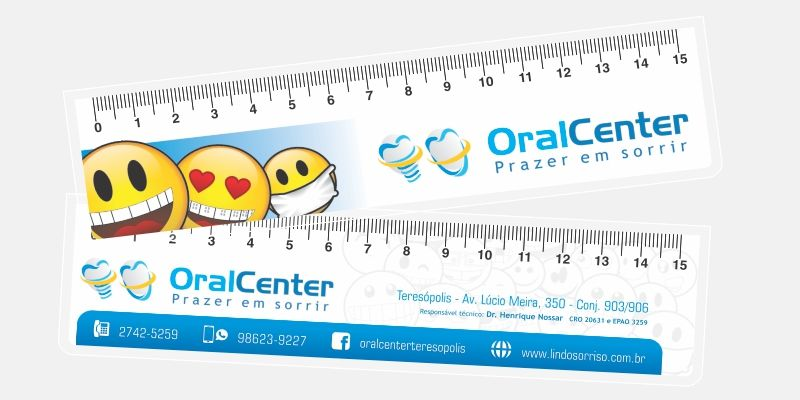 Réguas de 15 cm Artes Exclusivas do Cliente - - E 1